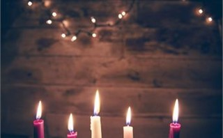 Advent Candles and lights
