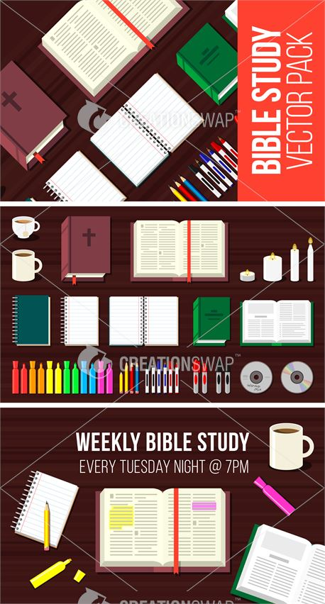 Bible Study Vector Pack (34609)