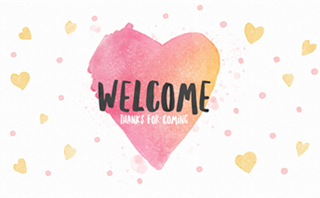 Watercolor Heart: Welcome