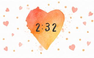 Watercolor Heart: Countdown