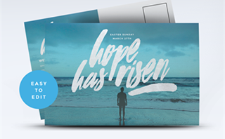 Hope Has Risen Postcard