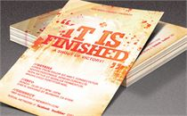 It is Finished Church Flyer