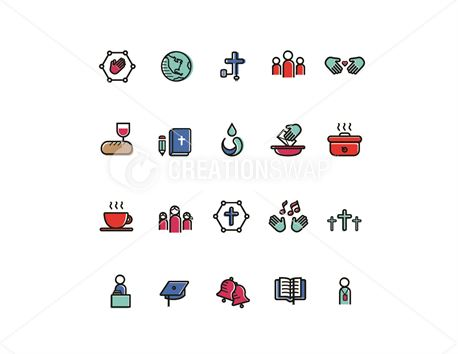 Church Vector Icons (36087)