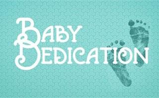 Baby Dedication Footprints