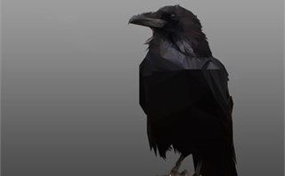 Crow Poly Art