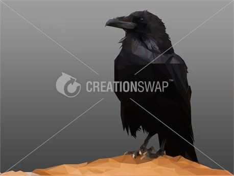 Crow Poly Art (37548)