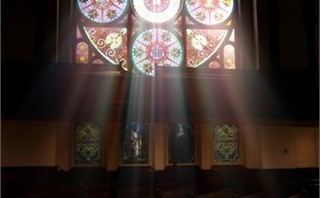 Stained Glass with Light Rays