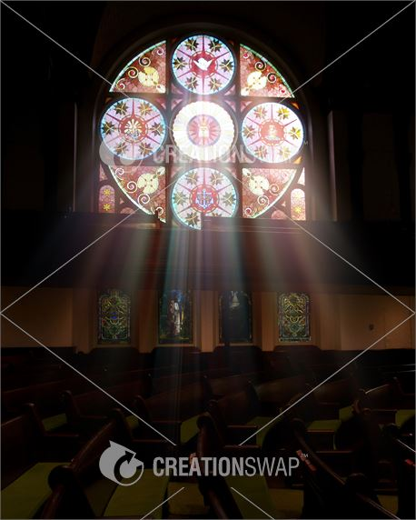 Stained Glass with Light Rays (38392)
