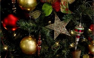 Christmas tree star background