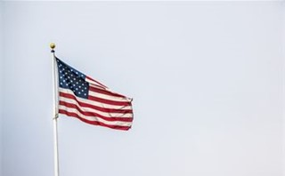 Moving American Flag
