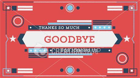 Vintage Fireworks Goodbye (39961)