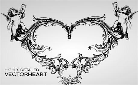 Ornate Vector Heart (4040)