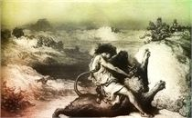 David Wresting a Lion