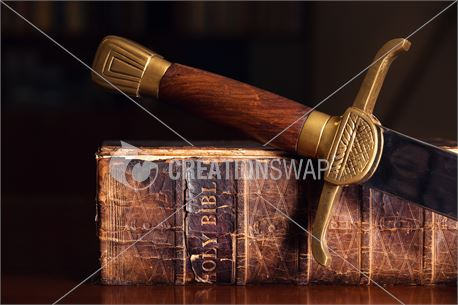 Old Bible with Sword (40080)