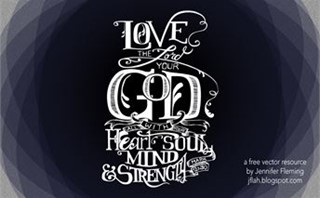 Love the Lord... Calligraphy
