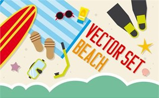 Vector Set: Beach