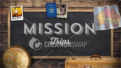 Chalkboard for Mission Trips (41608)