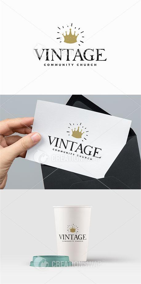Vintage Church Logo (42547)