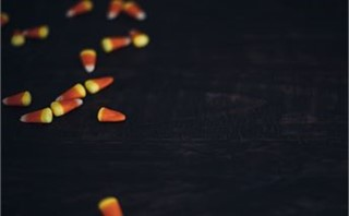 candy corn left side