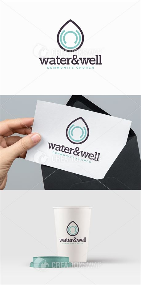 Water & Well Church Logo (42948)