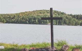 Lakeside Cross in Nature