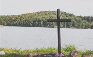 Lakeside Cross in Nature