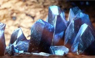 Blue Crystals Macro Loop