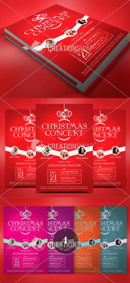 Red Christmas Concert Flyer (44299)