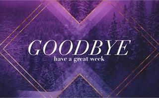 Winter Gradient Goodbye