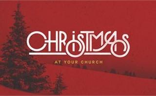 Red Christmas Tree Scene