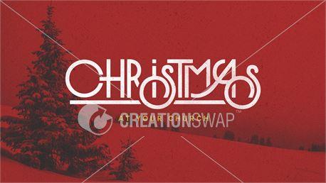 Red Christmas Tree Scene (45126)