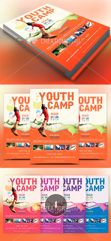 Youth Camp Flyer Template (45129)