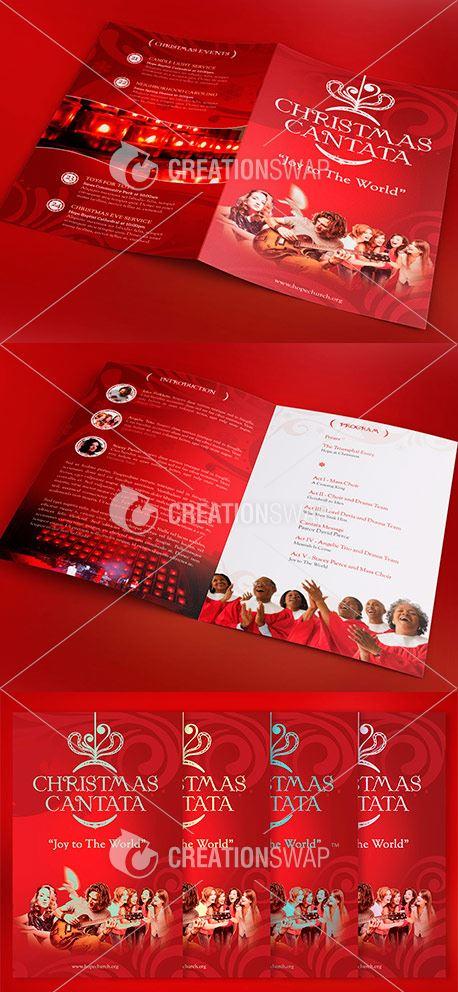Red Christmas Cantata Program (45168)