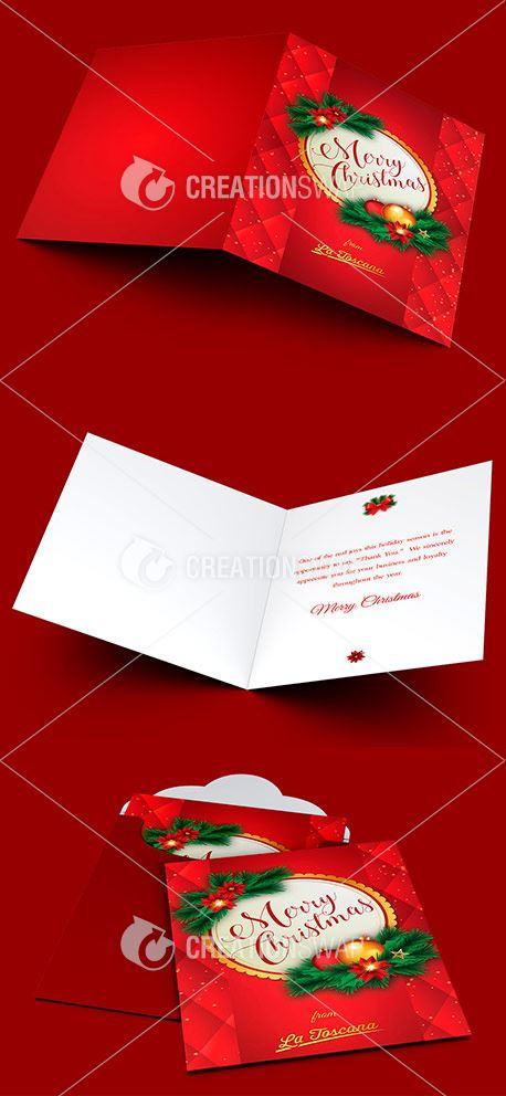 Ornament Christmas Card (45420)