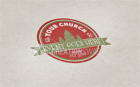 Mistletoe Christmas Badge (45442)