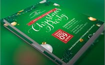 Green Christmas Party Flyer