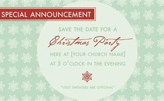 Editable Christmas Service
