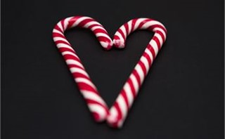 Sweet Candy Cane Heart