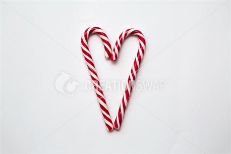Sweet Candy Cane Heart  (45829)