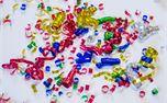 Confetti Ribbons Overhead View (45951)