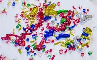 Confetti Ribbons Overhead View