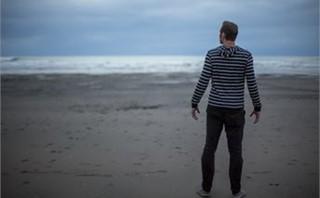 Man a beach