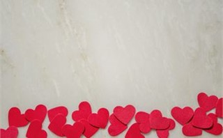 Red Hearts on Marble