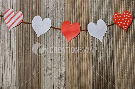 Paper Hearts on a String (46316)