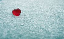Red Heart in Ice