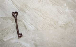Heart Key on Marble