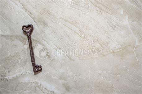 Heart Key on Marble (46757)