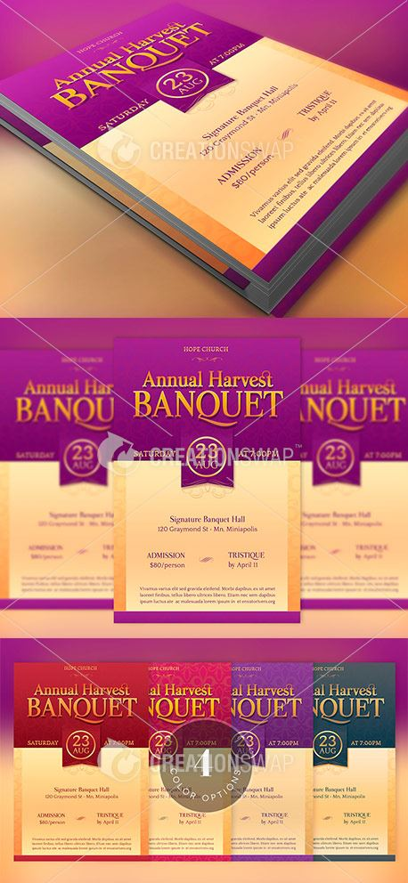Harvest Banquet Flyer (47135)