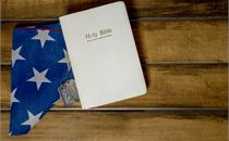 Bible, Folded Flag, & Dog Tags