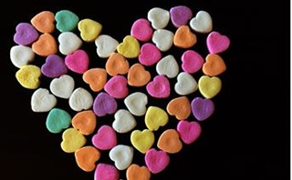 Heart Made From Candy
